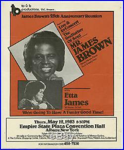 JAMES BROWN Etta James ORIGINAL 1983 Concert Handbill / Flyer
