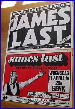 JAMES LAST 2 original silkscreen concert posters 1970s