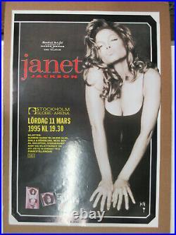 JANET JACKSON Janet World Tour 1995 Stockholm SWEDEN Concert POSTER Michael