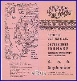 JIMI HENDRIX Authentic LAST CONCERT German Concert Handbill / Brochure RARE
