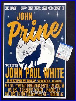 JOHN PRINE Autograph SIGNED CONCERT POSTER Las Vegas TUCSON Phoenix PSA/DNA COA