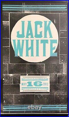 Jack White Hatch Show Print Concert 2 Poster Set @ Ryman Nashville TN 2012