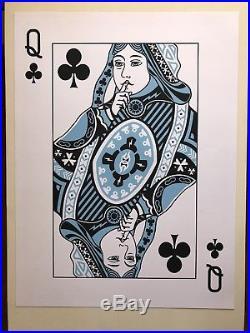 Jack White Las Vegas 8/23/18 Silkscreen Concert Poster Queen of Clubs