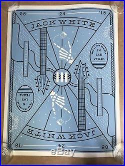 Jack White Las Vegas concert poster 8/24/18 3rd Man deck of cards variant