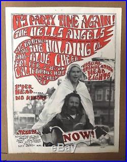 Janis Joplin Blue Cheer Rare Original 1967 Hippie Concert Poster Handbill