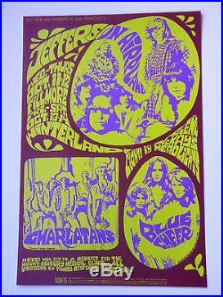 Jefferson Airplane, Charlatans 1967 Original Fillmore BG-88 Concert Poster