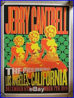 Jerry Cantrell Autographed Poster & 2 Concert T-shirts