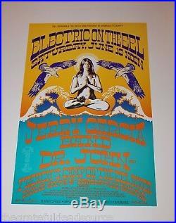 Jerry Garcia Band Dr John Eel River 1989 Concert Poster Rick Griffin art