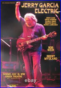Jerry Garcia Band Electric 1988 Rock Concert Poster Greek Theater