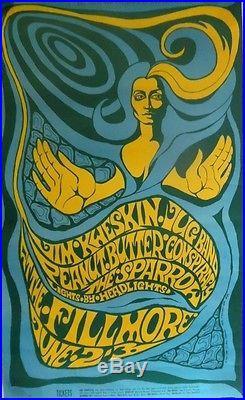 Jim Kweskin BG 66-1 Orig. June 2, 1967 Concert Poster