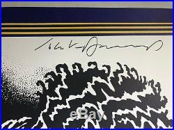 Jimi Hendrix Poster Reissue 1968 Concert Signed By Artist John Van Hamersveld NM
