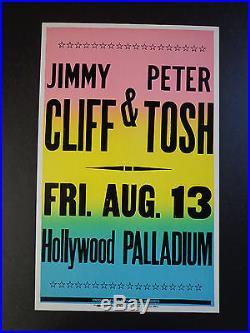 Jimmy Cliff & Peter Tosh Palladium Original Vintage Concert Promo Poster
