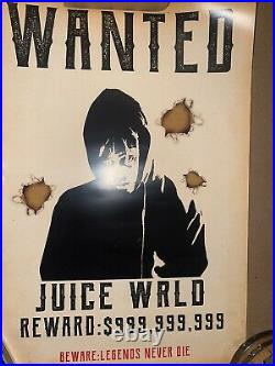 Juice Wrld Reward $999,999,999 Rare Poster Rapper Juice World Hip hop Concert