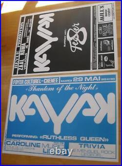 KAYAK 2 original silkscreen concert posters'79 dutch prog