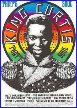 KING CURTIS German A1 concert poster 1968 GUNTHER KIESER Art ULTRA RARE