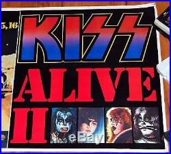 KISS 1977 Alive 2 Tour Madison Square Garden NY Street Bus Concert Poster Aucoin