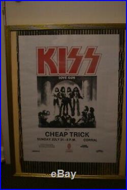 KISS CHEAP TRICK Love Gun Tour Canadian concert poster