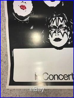KISS Original Early 70s Unused Concert Promo Poster Tour Blank Paul Stanley ROCK