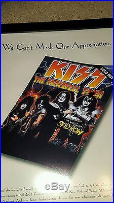 KISS Rare Original 2001 Farewell Mohegan Sun Lobby Concert Promo Poster