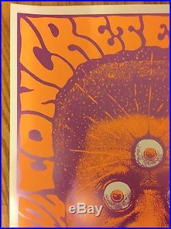 KOZIK Print CONCRETE BLONDE 1991 Concert Show Tour ORIGINAL SIGNED Poster 11x17