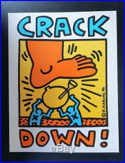 Keith Haring Crack Down Poster Original 1986 Benefit Concert