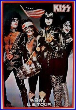 Kiss 1976 / 1977 Rock And Roll Over U. S. Concert Tour Original Aucoin Poster Nmt