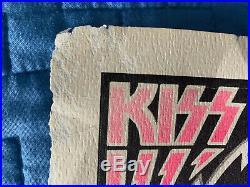 Kiss Original Concert Poster 1977 Duluth Arena Uriah Heep Tour Live Lp 33 45 7
