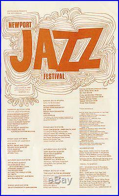 LED ZEPPELIN Jeff Beck JETHRO TULL Miles Davis Original 1969 Fest Concert Poster