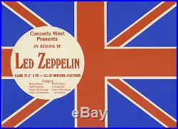 LED ZEPPELIN Original 1970 DALLAS TEXAS Concert Handbill / Flyer SUPER RARE