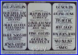 LED ZEPPELIN THE WHO PINK FLOYD 1971 BGP Concert poster RANDY TUTEN NM 1st Print
