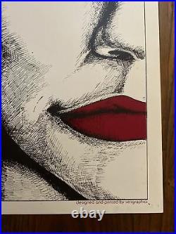LINDA RONSTADT 1977 poster Notre Dame concert Original 23x17.5