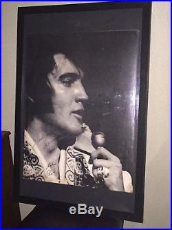 Large Rare Concert Poster With Elvis Presley Autograph On Tour / Hilton