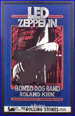 Led Zeppelin Bill Graham Winterland 1969 Concert Poster