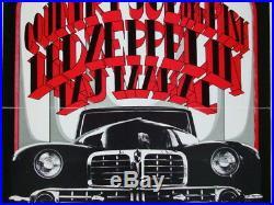 Led Zeppelin Country Joe Taj Mahal Original 1969 Concert Poster / Randy Tuten