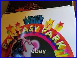 Led Zeppelin Elton Pink Floyd Fantasy Park Concert Concert Vintage Nos Poster