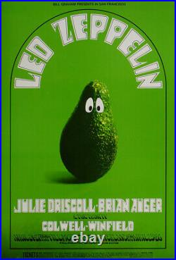 Led Zeppelin Fillmore West 1969 Concert Poster 4th Print