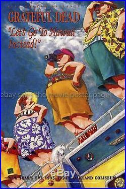 Let's Go to Hawaii Instead 1993 original Grateful Dead Concert Poster