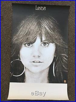 Linda Ronstadt LINDA Original 1971 CONCERT TOUR BLANK / PROMO POSTER / 36 X 22