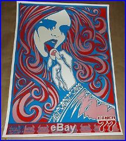 Linea 77 silkscreen concert poster Malleus 2003 RARE