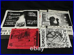 Lot of 25 Original 1980's Punk & Industrial Concert Flyers Posters Marginal Man+