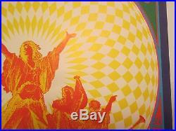 Lothar & Hand People The Doors Concert Poster Denver c 1967 Bob Schnepf c 1967