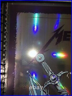 Luke Preece Metallica Manchester UK Poster 2019 AP S/N FOIL Variant #6/35 RARE