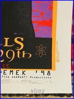 MASSIVE ATTACK & VERVE in AUBURN HILLS MI 1998 EMEK SIGNED CONCERT POSTER SALE