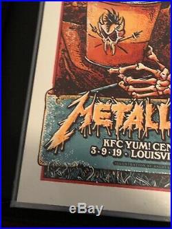 METALLICA LOUISVILLE, KY Concert Poster 3-9-19 2019 Angryblue AP S/N 49/100