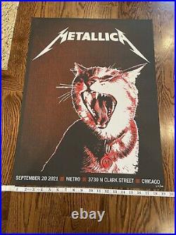 METALLICA Poster Metro Chicago 2021 concert tour limited edition rare Secret