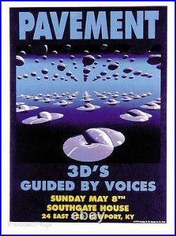 MG04 PAVEMENT GBV Original Silkscreen Concert Poster M. Getz 1994 Signed Mint