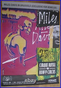 MILES DAVIS original concert poster jazz'83
