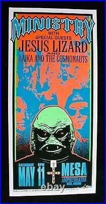 MINISTRY & JESUS LIZARDArminski Signed 1996 Silkscreen Concert PosterMesa, AZ