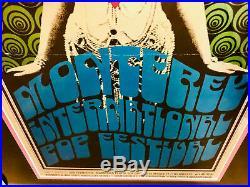 MONTEREY POP FESTIVAL (1967) Framed ORIGINAL Concert Poster (AOR-3.5, Type 2)