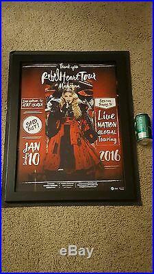 Madonna Very Rare Original San Antonio Rebel Heart Concert Promo Poster
